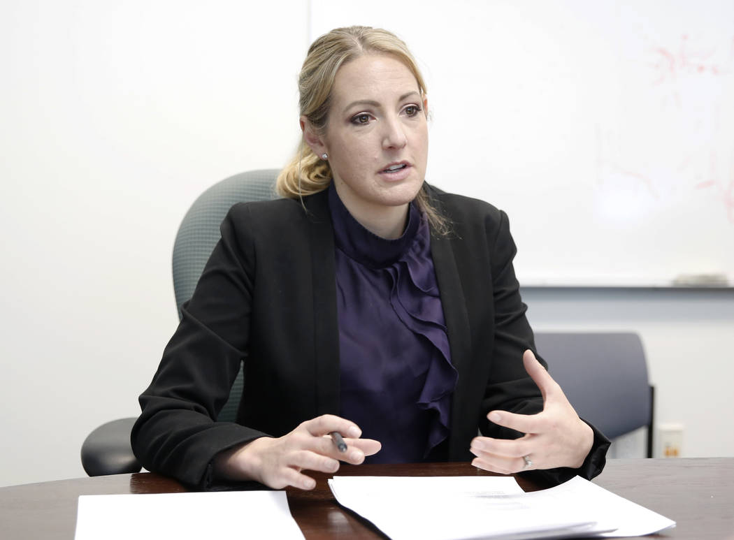 Tara Sullivan, special agent in charge of the Nevada office of the IRS Criminal Investigation Division, during an interview at IRS building Monday, April 10, 2017, in Las Vegas. Bizuayehu Tesfaye/ ...
