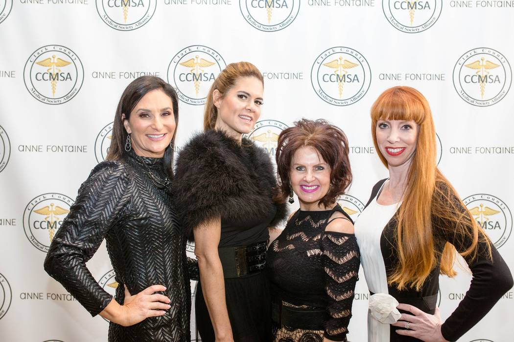 CCMSA Co-President Elect Jessica Kartzinel, Anne Fontaine, Anna Billings, general manager at Anne Fontaine inlas Vegas, and Alexia Crowley, co-president-elect of the Clark County Medical Society A ...