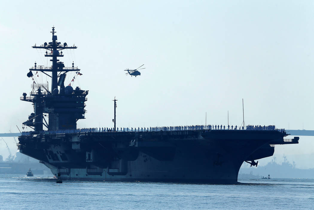 US carrier strike group heads toward W. Pacific near Korea