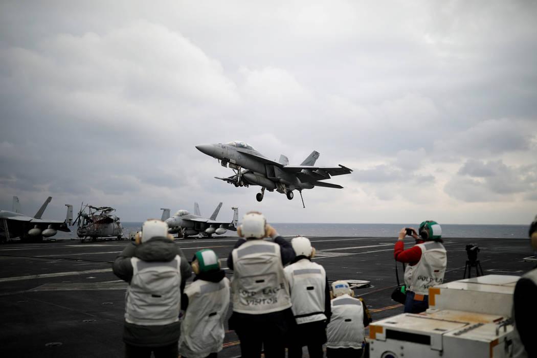 US carrier strike group heads toward W. Pacific near Korea