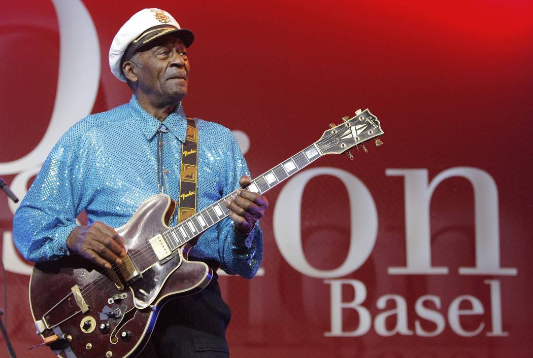Legendary musician Chuck Berry performs Nov. 13, 2007, at the Avo Session in Basel, Switzerland. (Peter Klaunzer/Keystone via AP, File)