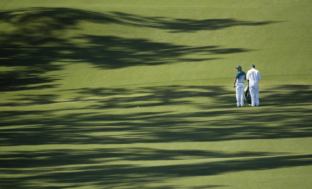 Sergio Garcia of Spain walks on the eighth hole in final round play during the 2017 Masters golf tournament at Augusta National Golf Club in Augusta, Georgia, U.S., April 9, 2017. REUTERS/Brian Snyder