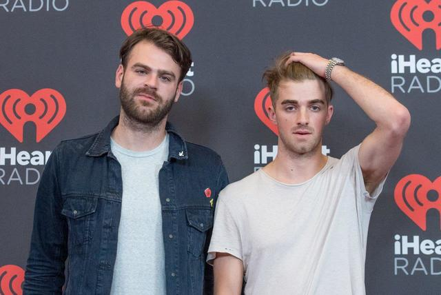 The Chainsmokers arrive at Night 2 of the 2016 iHeartRadio Music Festival at T-Mobile Arena on Saturday, Sept. 24, 2016, in Las Vegas. (Tom Donoghue)