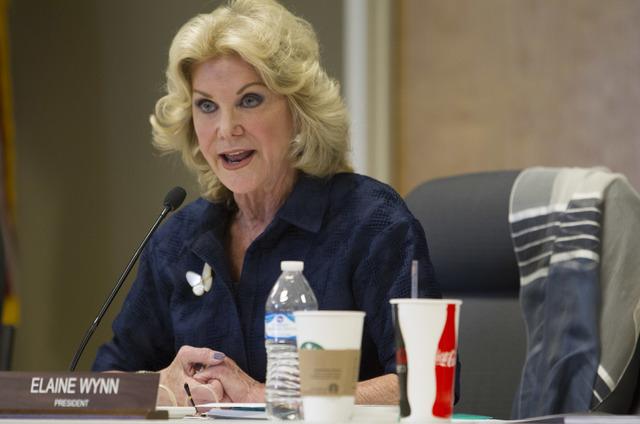 Elaine Wynn speaks on Thursday, Sept. 1, 2016. (Richard Brian/Las Vegas Review-Journal) @vegasphotograph