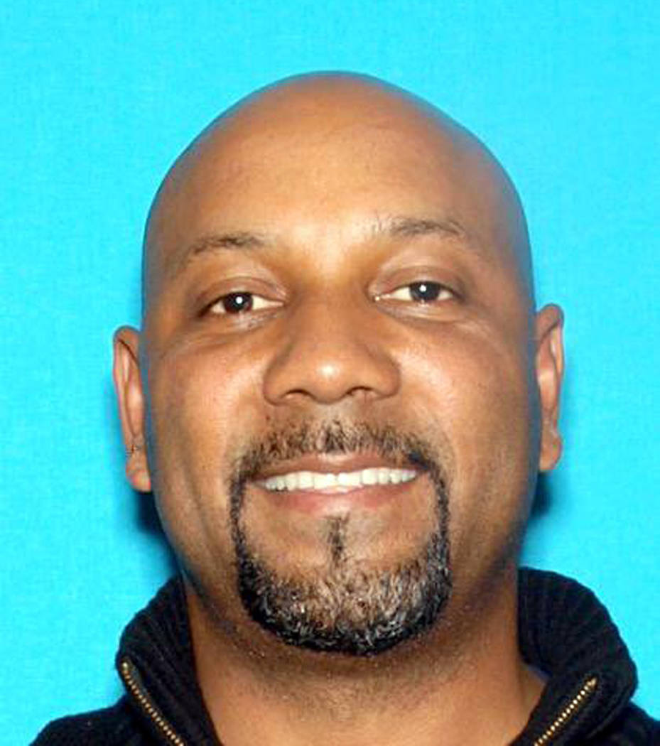 This undated photo released by the San Bernardino Police Department shows Cedric Anderson, 53. Anderson has been identified by authorities as the person who shot to death Karen Elaine Smith, 53, i ...