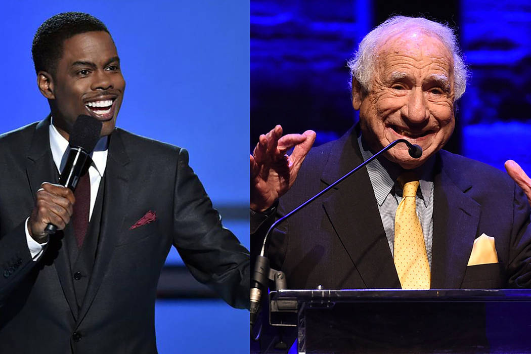 Comedians Chris Rock and Mel Brooks (Facebook and Associated Press)