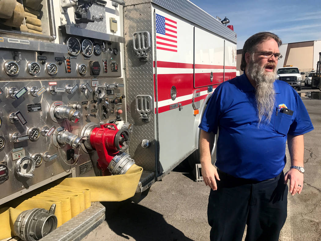 Pete Fitterling, who is the supervisor for the fleet services department, stands outside in front of equipment that his employees work on April 4, 2017, at 100 E. Brooks Ave. Kailyn Brown View