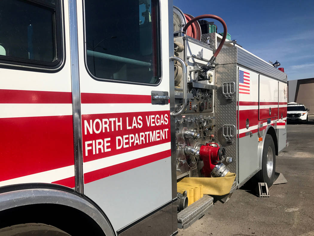 Fleet services employees repair fire apparatus and support vehicles April 4, 2017, that the City of North Las Vegas owns at 100 E. Brooks Ave. Kailyn Brown View