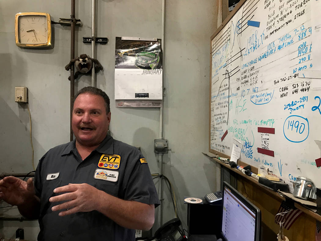 Mike Jerums at his desk April 4, 2017, at City of North Las Vegas' fleet services garage at 100 E. Brooks Ave. Kailyn Brown View