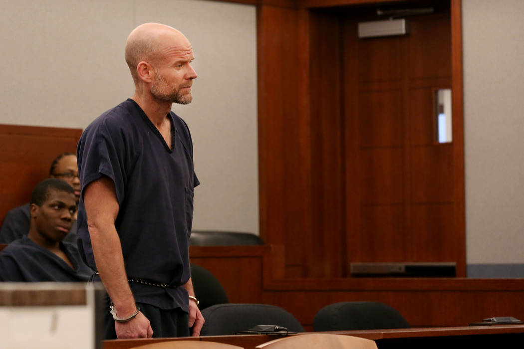 Nicolai Mork, an MIT graduate facing terrorism charges, appears in court at the Regional Justice Center in Las Vegas, Tuesday, April 11, 2017. (Elizabeth Brumley Las Vegas Review-Journal) @EliPage ...