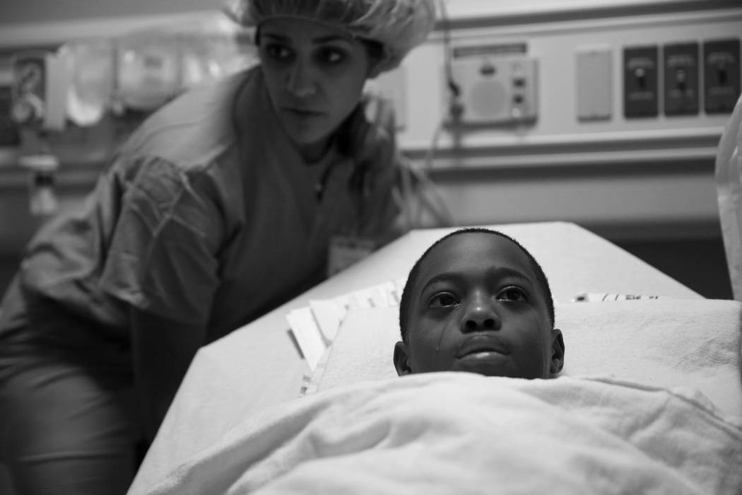 This undated photo provided by Columbia University shows one of the photos in the series that won the Pulitzer Prize on Monday, April 10, 2017 for Feature Photography by E. Jason Wambsgans, of the ...