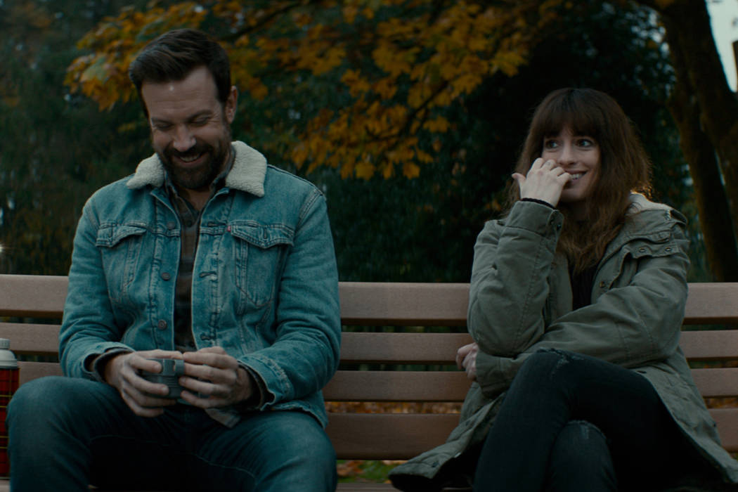 """Jason Sudeikis and Anne Hathaway star in """"Colossal."""" (Courtesy NEON)"""