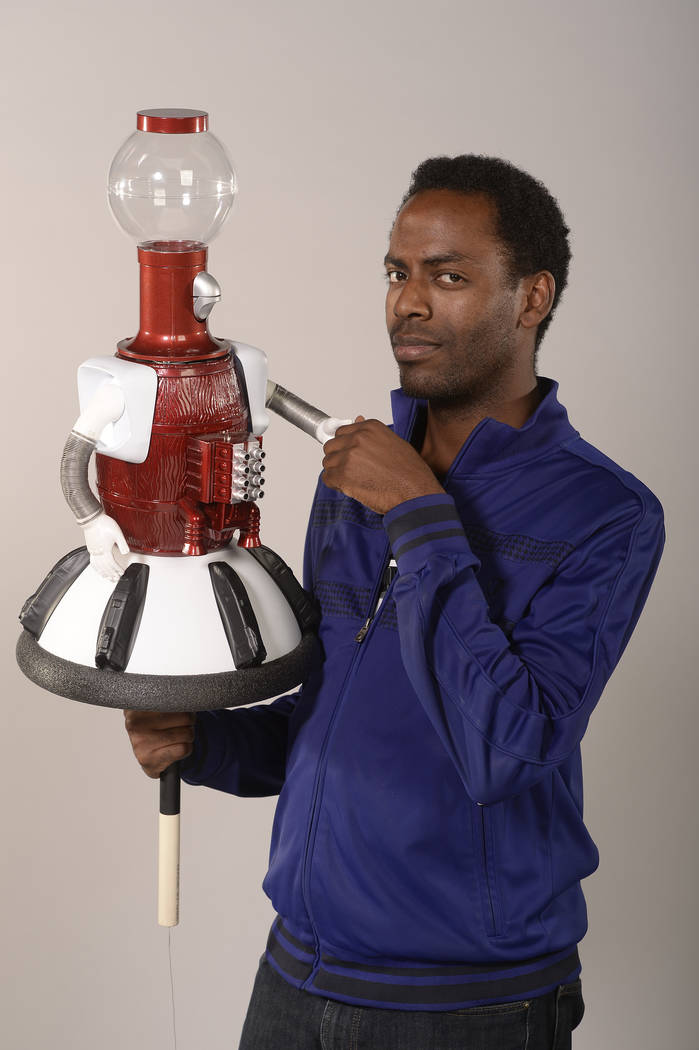 "Baron Vaughn voices Tom Servo on 'Mystery Science Theater 3000 The Return."" (Darren Michaels, SMPSP)"