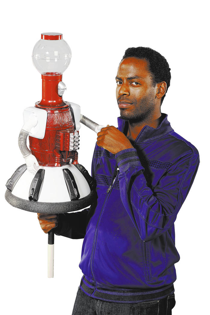 "Baron Vaughn voices Tom Servo on 'Mystery Science Theater 3000 The Return."" Photo by Darren Michaels, SMPSP"