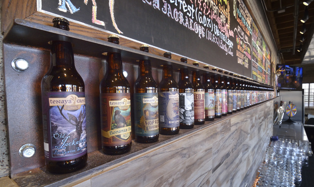 Part of the bar is shown in the tasting room at Tenaya Creek Brewery at 831 W. Bonanza Road on Friday, Sept. 9, 2016. (Bill Hughes/Las Vegas Review-Journal)