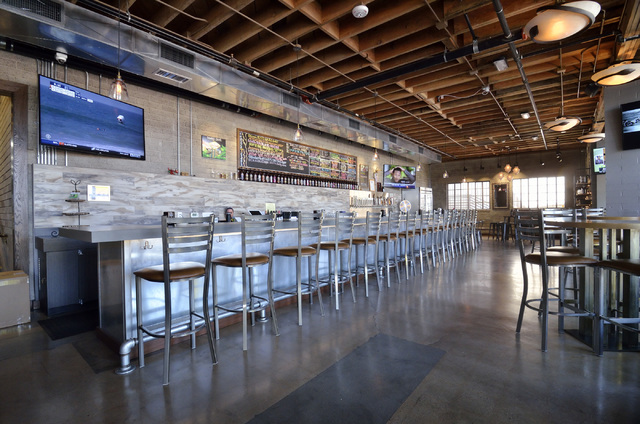 The tasting room is shown at Tenaya Creek Brewery at 831 W. Bonanza Road on Friday, Sept. 9, 2016. (Bill Hughes/Las Vegas Review-Journal)