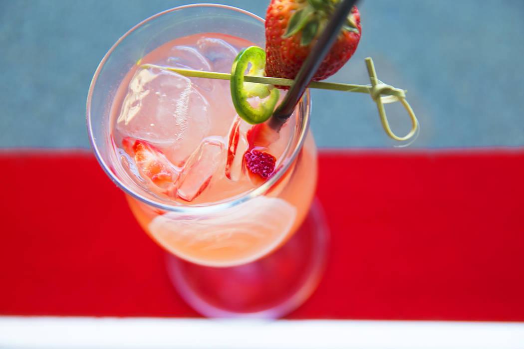 Strawberry jalapeo margarita at Topgolf Las Vegas on Monday, April 10, 2017, at the MGM Grand hotel/casino, in Las Vegas. Benjamin Hager Las Vegas Review-Journal @benjaminhphoto