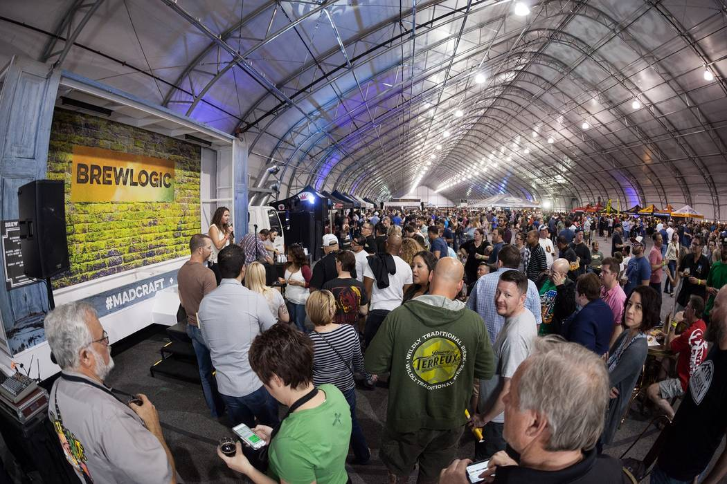 Brew Logic at The Great Vegas Festival of Beer on Saturday, April 8, 2017, at World Market Center. (Fred Morledge)