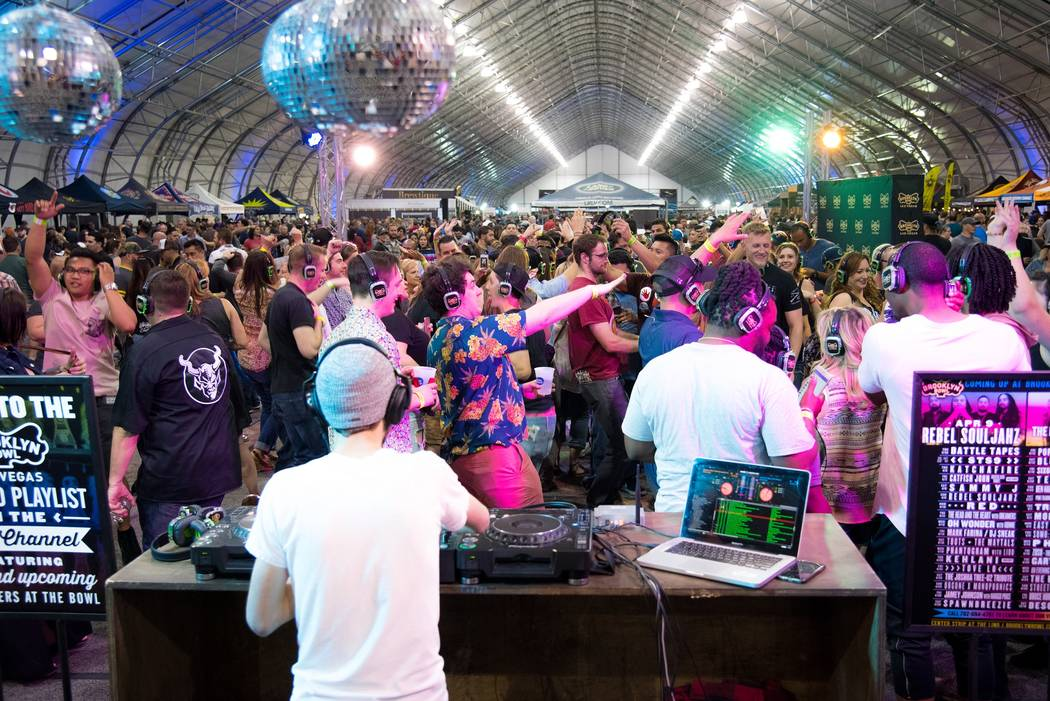 Silent Disco at The Great Vegas Festival of Beer on Saturday, April 8, 2017, at World Market Center. (Angie Ortaliza)