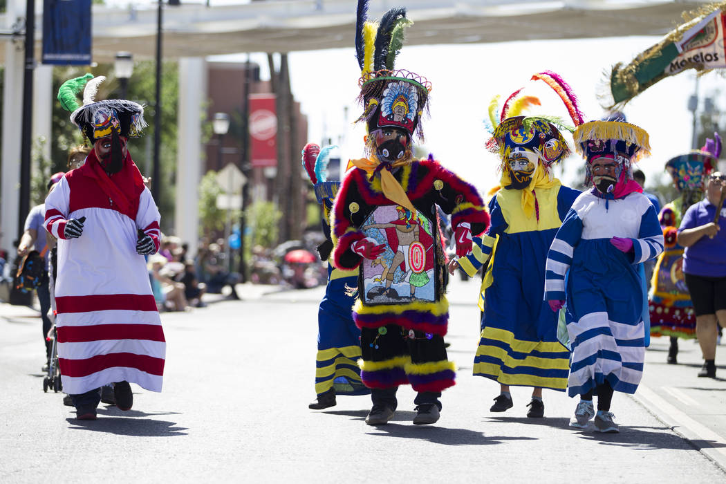 Members of the Banda Imperio cultural dance group perform during the annual Henderson Heritage Parade and Festival on Saturday, April 15, 2017, in Henderson. Erik Verduzco Las Vegas Review-Journal ...