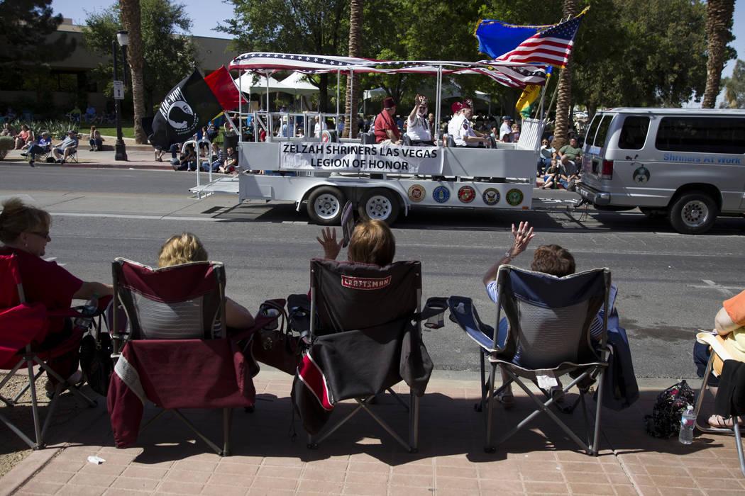 Members of the Zelzah Shriners Las Vegas Legion of Honor during the annual Henderson Heritage Parade and Festival on Saturday, April 15, 2017, in Henderson. Erik Verduzco Las Vegas Review-Journal  ...