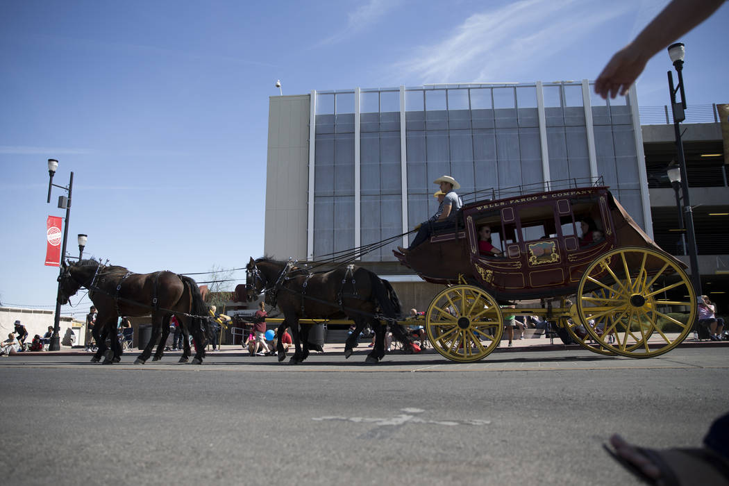 The Wells Fargo Stagecoach during the annual Henderson Heritage Parade and Festival on Saturday, April 15, 2017, in Henderson. Erik Verduzco Las Vegas Review-Journal @Erik_Verduzco