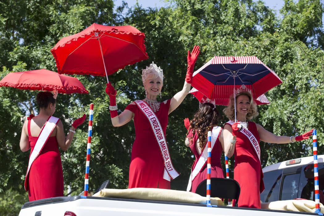 Pageant women during the annual Henderson Heritage Parade and Festival on Saturday, April 15, 2017, in Henderson. Erik Verduzco Las Vegas Review-Journal @Erik_Verduzco