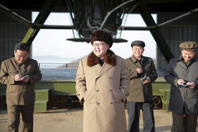 North Korea leader Kim Jong Un visits Sohae Space Center in Cholsan County, North Pyongan province April 9, 2016. (KCNA/via REUTERS/File)