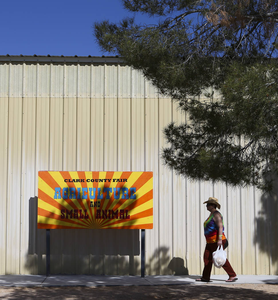 The agricultural and small animal building during the first day of the Clark County Fair and Rodeo in Logandale on Wednesday, April 12, 2017. Chase Stevens Las Vegas Review-Journal @csstevensphoto