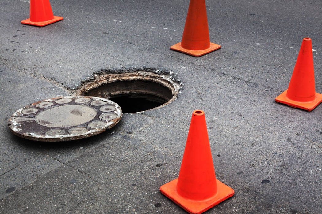 A stretch of Charleston Boulevard will be restricted as crews replace three manhole concrete collars. (Thinkstock)