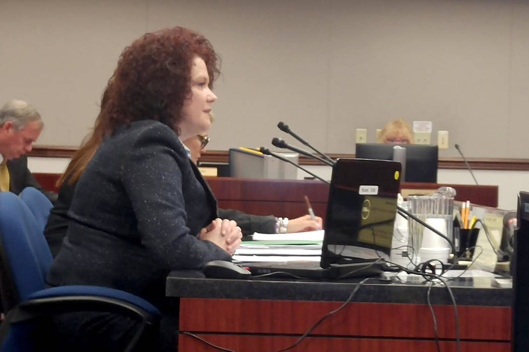 Nevada First Lady Kathleen Sandoval spoke to the Assembly Judiciary Committee recently about Assembly Bill 472, which would overhaul the state's juvenile justice system. (Ben Botkin Las Vegas Revi ...