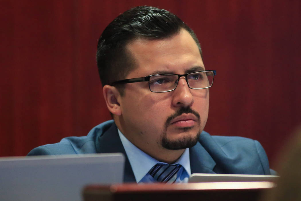 Assemblyman Edgar Flores during a legislative hearing at the Grant Sawyer State Office Building in Las Vegas on Friday, March 31, 2017. (Brett Le Blanc/Las Vegas Review-Journal) @bleblancphoto