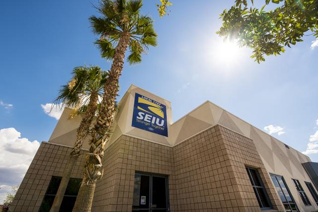 The SEIU office is show in Las Vegas on Wednesday, June 10, 2015. (Joshua Dahl/Las Vegas Review-Journal)