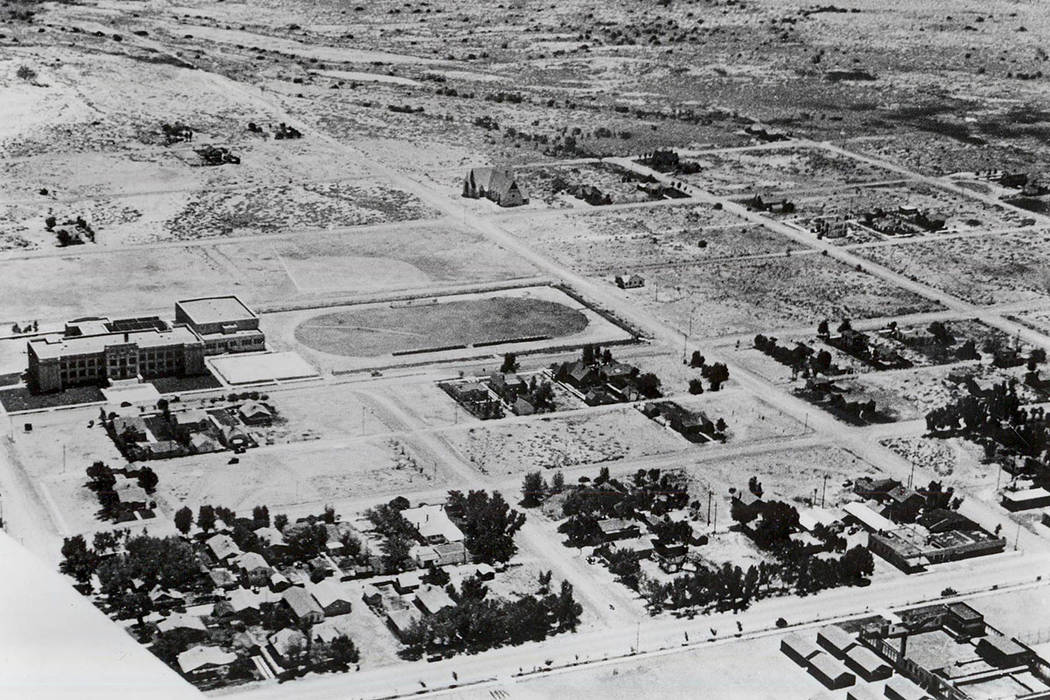 Las Vegas High School approximately 1933. (Maurine and Fred Wilson Collection at University of Nevada, Las Vegas Library)