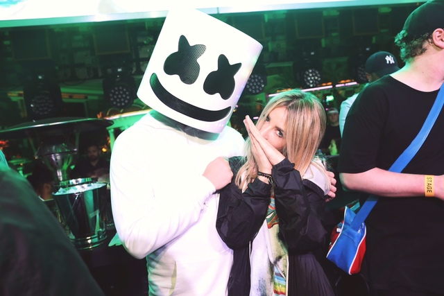 DJs Marshmello and Alison Wonderland on Friday, Feb. 3, 2017, in Las Vegas. (Danny Mahoney)