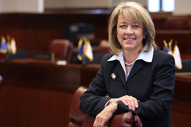 Secretary of State Barbara Cegavske is behind an omnibus campaign finance reform bill heard in the Nevada Legislature on Tuesday.