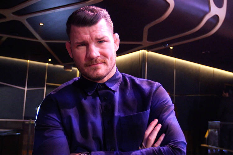 UFC middleweight champion Michael Bisping is still waiting for a date to put his belt on the line against long-time UFC welterweight champion Georges St-Pierre. (Heidi Fang/Las Vegas Review-Journal)