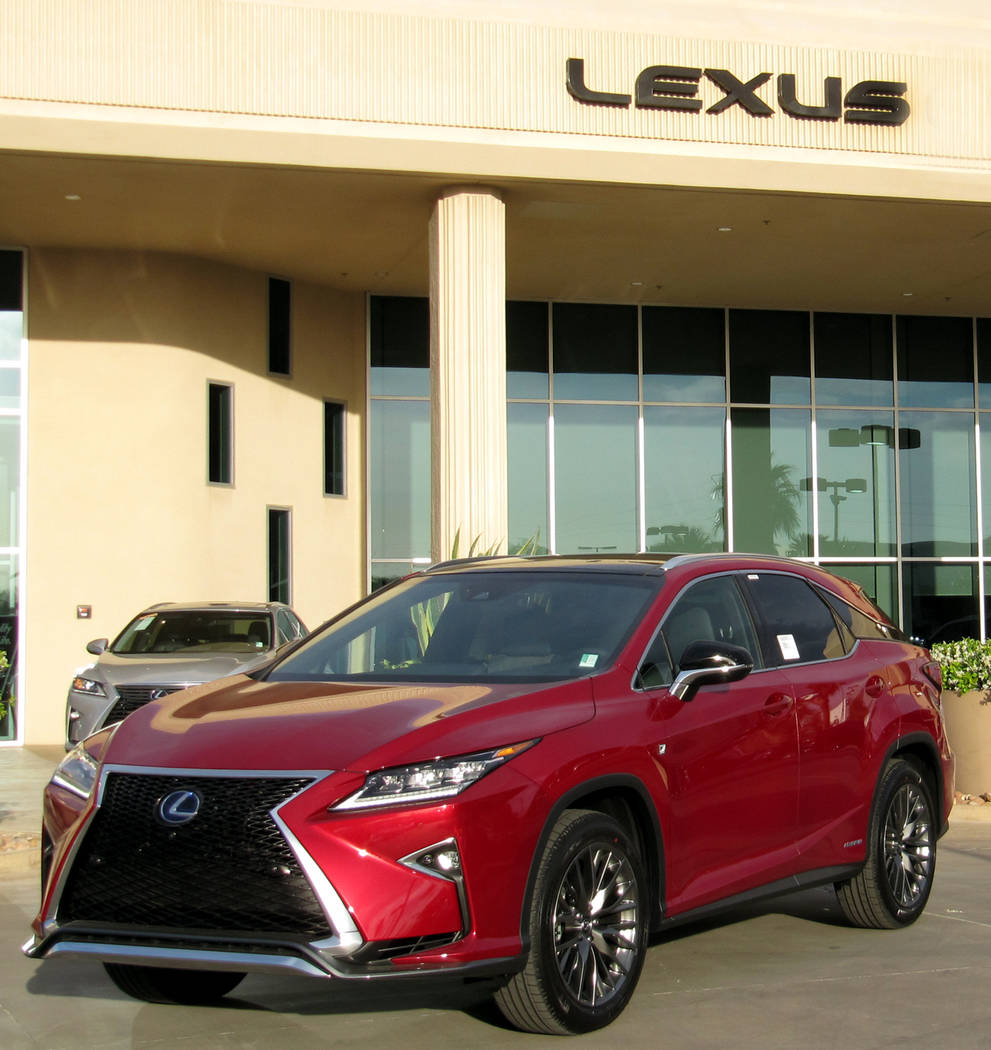 Lexus Two lucky golfers could win free two-year leases of a 2017 Lexus RX350 like this one.