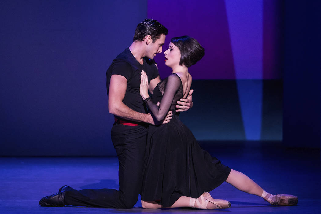 """Artist Jerry (Garen Scribner) and dancer Lise (Sara Esty) find romance in the Tony-winning musical """"An American in Paris."""" (Matthew Murphy The Smith Center for the Performing Arts)"""