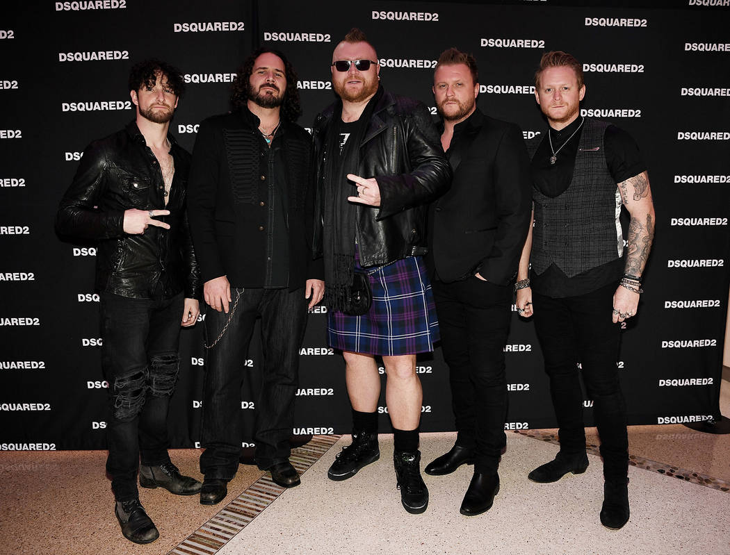 Harrah's headliners Tenors of Rock attend the grand opening of Dsquared2 Store at Crystals at CityCenter on Thursday, April 6, 2017, in Las Vegas. (Denise Truscello/WireImage)