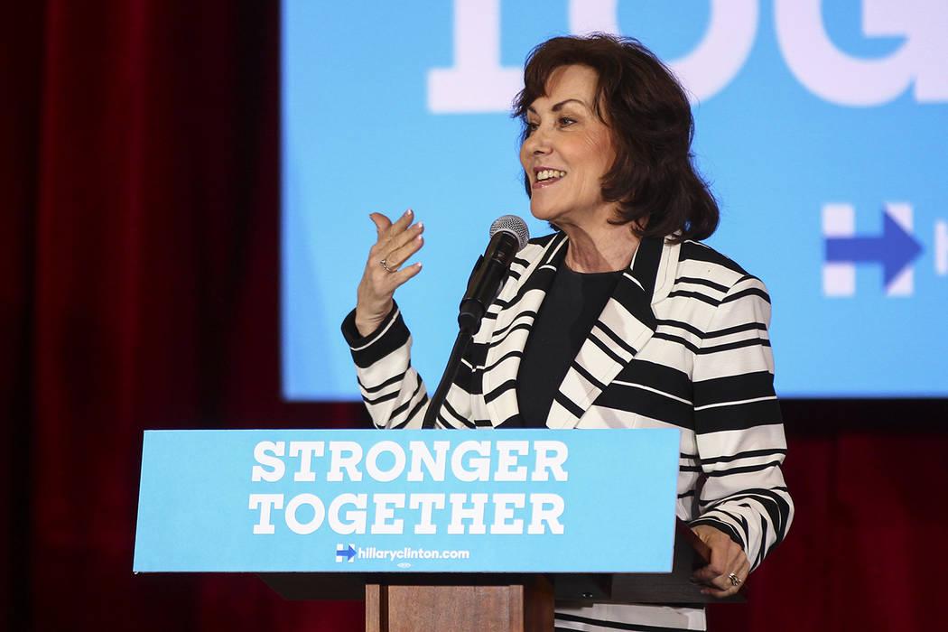 Jacky Rosen speaks during a campaign event at Sun City MacDonald Ranch in Henderson on Friday, Oct. 7, 2016. (Chase Stevens/Las Vegas Review-Journal) Follow @csstevensphoto