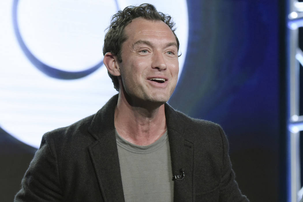 "Jude Law at the ""The Young Pope"" panel at the HBO portion of the 2017 Winter Television Critics Association press tour in Pasadena, Calif. on Jan. 14, 2017. (Richard Shotwell/Invision/AP)"