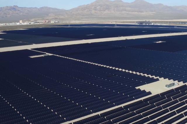The Silver State South Solar Energy Center near Primm, about 50 miles south of Las Vegas. (NextEra Energy Resources)