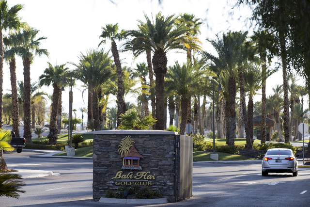 Bali Hai Golf Club is seen on Saturday, Aug. 6, 2016, in Las Vegas. Erik Verduzco/Las Vegas Review-Journal Follow @Erik_Verduzco