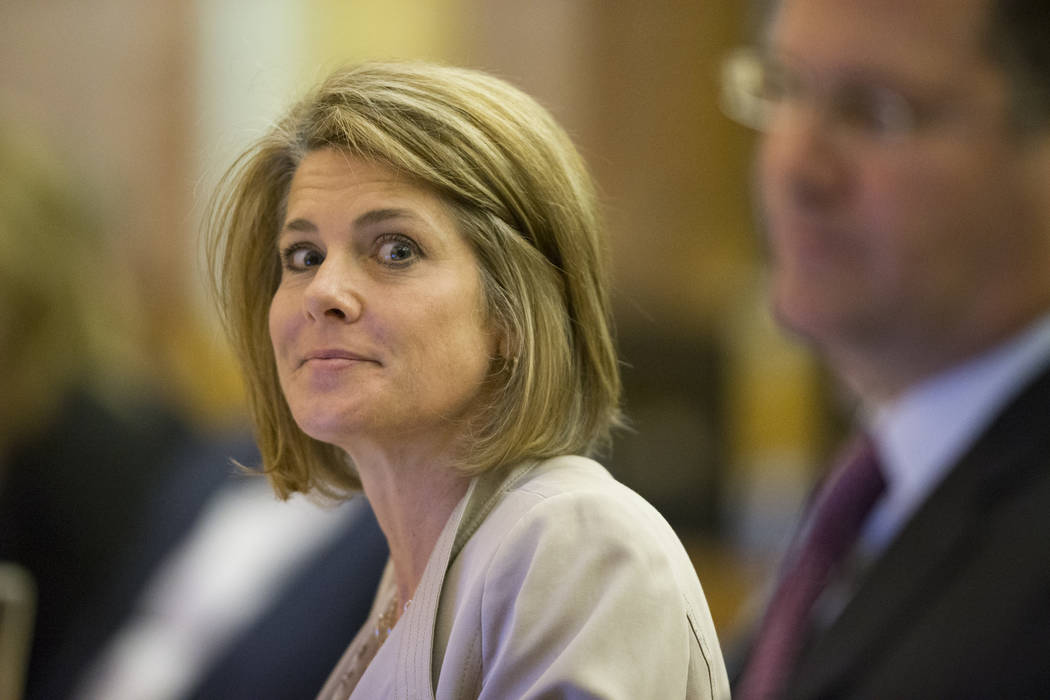 Tina Quigley, general manager for the Regional Transportation Commission of Southern Nevada, during a Regional Transportation Commission board meeting at the Clark County Commission Chambers on Th ...