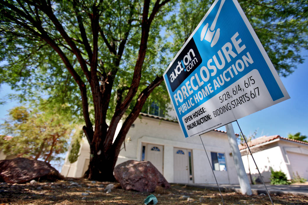 A foreclosed home in Las Vegas is shown in this file photo. (Jeff Scheid/Las Vegas Review-Journal)