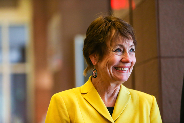 Sharron Angle was a Republican candidate for U.S. Senate in 2016. (Chase Stevens/Las Vegas Review-Journal) @csstevensphoto