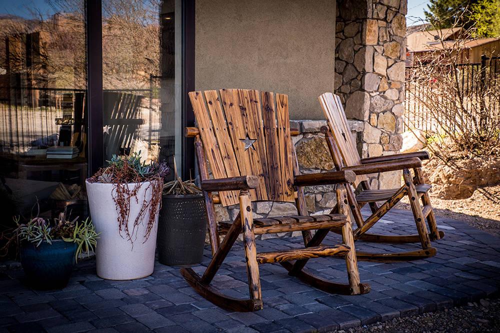 The home on 14 Lassen St. in Blue Diamond has a rustic feel. (Tonya Harvey)