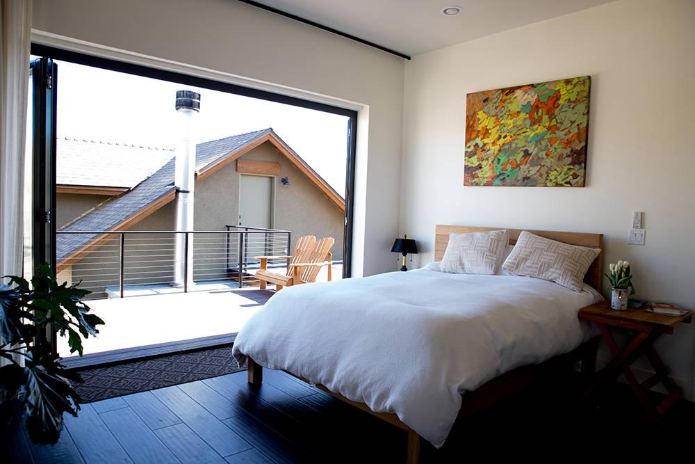The master bedroom has an outdoor patio. (Tonya Harvey)