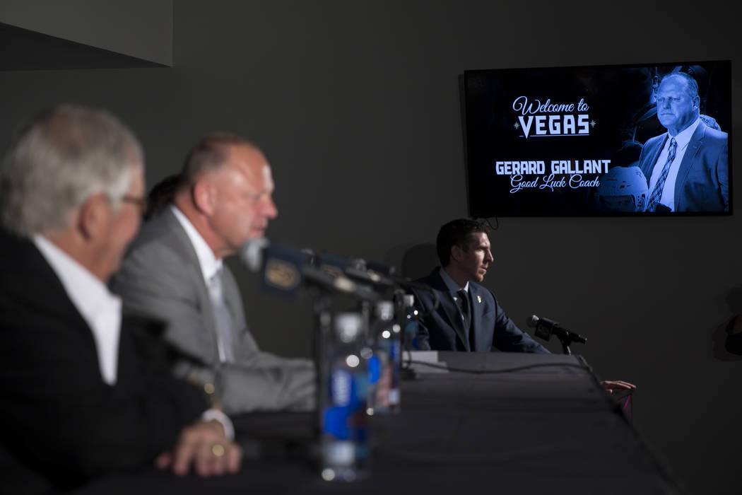 Gerard Gallant on Thursday, April 13, 2017, in Las Vegas. (Erik Verduzco Las Vegas Review-Journal) @Erik_Verduzco